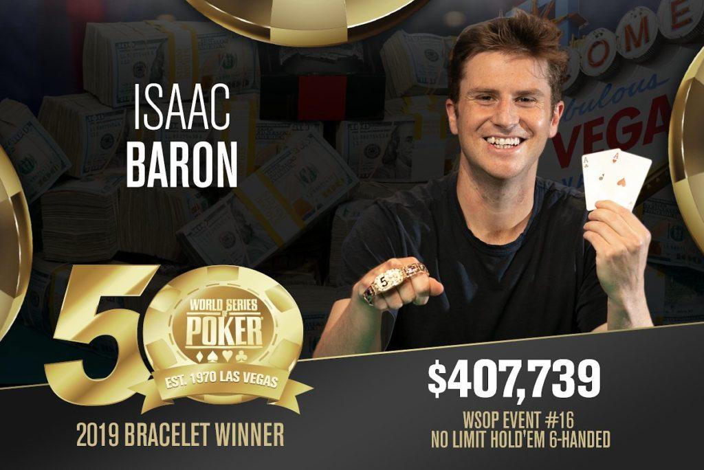 Baron wins WSOP bracelet