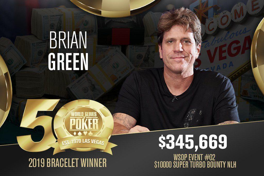 Brian Green wins 1st wsop bracelet