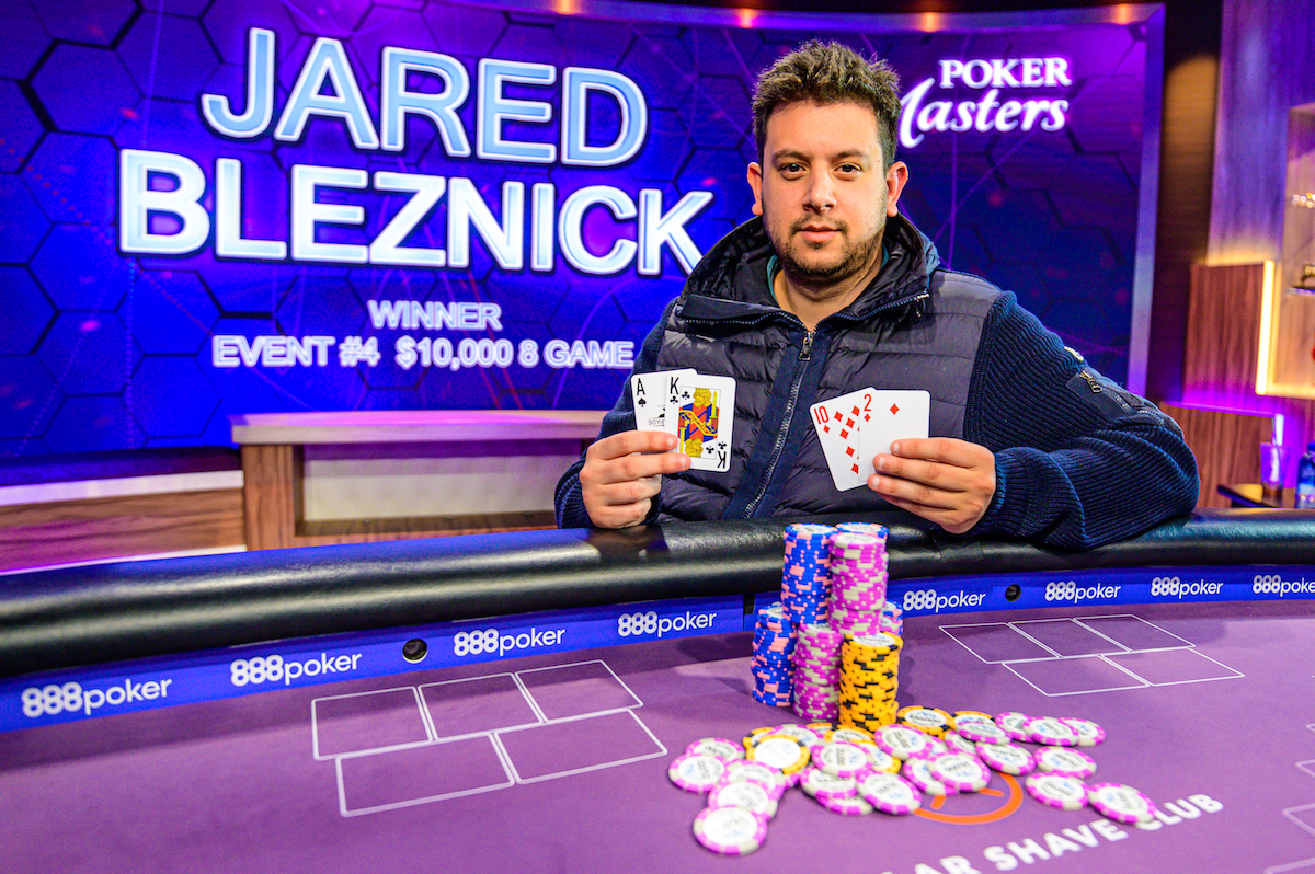 The Third Rail: Jared Bleznick Wins Event #4: $10,000 8-Game at the Poker Masters